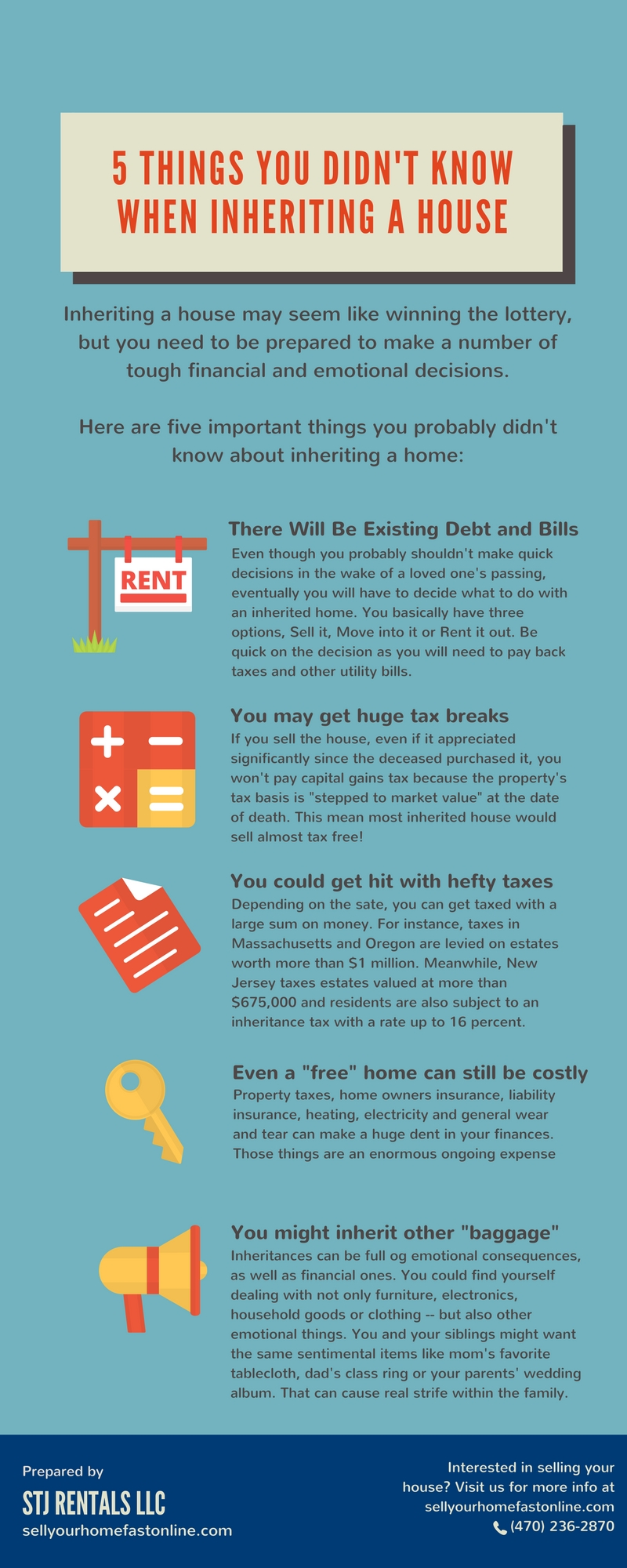 5 things you didn't know when inheriting a house - sell your home